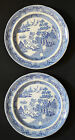 Antique Blue Willow Plates by STUBBS - Late 18th, Early 19th Century