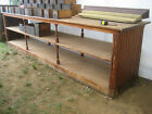 c1880-90 country store table COUNTER heart pine OPEN shelving 12' x 36