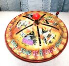 VINTAGE BLACKBIRD MUSICAL TIN POP-UP VINTAGE TOY - MATTEL - 1953