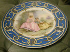 ANTIQUE FRENCH SEVRES HAND PAINTED SIGNED GILDED  PORCELAIN CHARGER PLATE 19 C