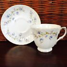 DUCHESS Bone China of England  - Tranquillity Pattern, Footed Tea Cup And Saucer