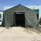 BASE X 305 MILITARY SURPLUS TENT COMPLETE W/FLOOR/LINNER/ELECTICAL GREAT CONDITI
