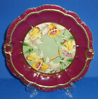 ANTIQUE VICTORIAN PORCELAIN PLATE HAND PAINTED GOLD DAFFODIL GERMANY c 1895-1910