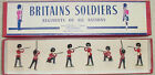 Old BRITAINS Lead, British Grenadier Guards Firing, 8 Pc. Boxed Set #1283, 1950s