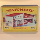 Matchbox Lesney Accessory MF 1b Fire Station Red Roof empty Repro E style Box