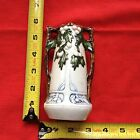 VTG Germany Snow Winter White Berry Bud Vase small Porcelain Pottery Art