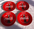 Set of 4 Gibson 1997 Coca Cola Coke Salad Lunch Plates 7 3/4