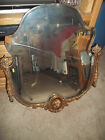 Antique 19th Century Hand Painted French Porcelain Plaque Mirror Frame