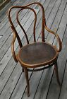 Vintage THONET Bentwood ARM Chair 1888 - 1922 Label COMPLETE ANTIQUE UNIQUE RARE