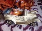 Vintage ALPS GOONEY MYSTERY CAR Tin Litho Battery Operated WORKS!!