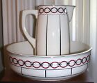 Villeroy and Boch Wash Basin and Pitcher Set | 1920's | Art Deco