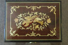 REUGE MUSIC BOX Glossy Wood Decorated Cover Beethoven Working