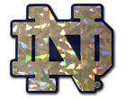 Notre Dame Fighting Irish Gold Reflective Domed Auto Decal - Emblem Car Sticker