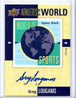2011 UD World of Sport Autograph Greg Louganis Diving Champ Auto Card#AW-GL
