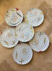 FRANCI Young Villa Vanilla Feathers Eggs Chicken Coop Palm Beach Dinner Plate