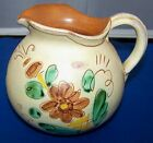 Vintage RARE Gabriel Pottery/Sweden Multi-Color Red Clay Pitcher # 148-R