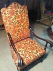 1800's Queen Anne Fireside Wing Back Chair FREE SHIPPING USA SELLER