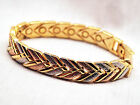 LADIES 725 IN MAGNETIC LINK BRACELET Copper Gold  Silver Chevron Helps Pain
