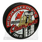 Martin Brodeur New Jersey Devils Signed Autographed 1994-95 Stanley Cup Puck