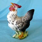 Hand Painted Italian Ceramic Pottery Rooster Statue Large Figurine Sur La Table