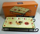 Pfaltzgraff Pottery Daybreak Sled Tray Server Plate NEW in Box Rooster Dish 2007