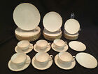 41 PIECE CHINA SET BY LENOX IN THE LAURENT PATTERN - GOLD RIM