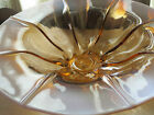 Vintage~Frosted/Clear Art Glass Bowl~Pink Shaply Molded Dish~Decrative Display