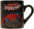 Silver Buffalo Marvel Comics Spider-Man Swings Black Web, Ceramic Mug, 14 Ounces