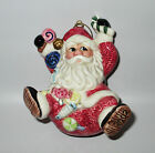 Fitz and Floyd Classics Sugar Plum Santa Christmas Tree Ornament 2002