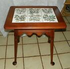 Solid Cherry Tile Top End Table / Side Table by Pennsylvania House  (T454)