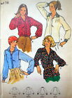 VTG B 6317 PATTERN MISS BLOUSE SHIRT LONG SLEEVE DOLMAN SHOULDER TUCKS 16 UNCUT