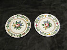 2 VILLEROY & BOCH ANTIQUE SAXONY DRESDEN BREAD PLATES. EXCELLENT CONDITION.