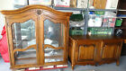 Vintage ETHAN ALLEN COUNTRY FRENCH CHINA CABINET HUTCH- ca.1950-1970