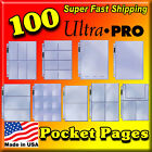 100 ULTRA PRO POCKET STORAGE PAGES ACID FREE ARCHIVE SAFE PHOTOS CARDS COUPON