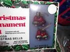 Vintage Holiday RED GREEN GOLD CHRISTMAS BELLS Bead Sequin Ornament Kit