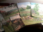 Collection of 30 vintage water color paintings dating back to 1907 !