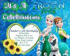 Frozen Fever Birthday Party Invitations w Envelopes 8pk Personalize Changes OK