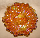 Gorgeous Vintage Gold Indiana Glass Carnival Glass LilyPons Sunflower Candy Dish