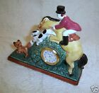 Rare Retired Fitz And Floyd Tallyho Equestrian Mantle Clock In Box-Works! 1991