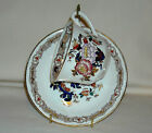 Vintage Crown Devon Fieldings Staffordshire Teacup & Saucer Flowered w/Gold