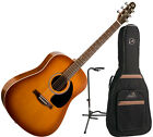 Seagull S6 (29822) Entourage Rustic Acoustic Guitar Bundle with FREE Stand