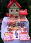 Vintage Strawberry Shortcake Berry Happy Home House W/ Dolls In Box - Furniture