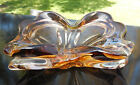 Murano Sommerso Light Brown and Clear Glass Double Dish