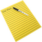 Yellow Bold Line Writing Paper - 8.5 x 11 inches, Low Vision Pads Thick Lines