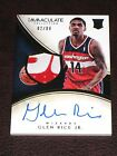Glen Rice Jr 2013-14 Panini Immaculate Patch Auto RC 99 RPA Rookie Wizards