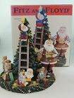 Music Box Santa's Helpers Christmas Tree Fitz & Floyd Plays Toyland 10 x 8