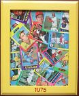 1975 Topps Baseball Original Folk Art 8X11 Framed Wall Hanging Cardinals Royals