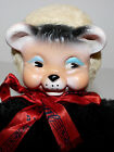 musical wind up plush bear with vinyl rubber face vintage  My Bonnie