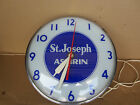 Antique Vintage St Joseph Aspirin Wall Clock 15 Diameter