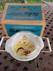 NIB Fire-King 1 1/2 quart casserole and cover with candle warmer by Anchorglass